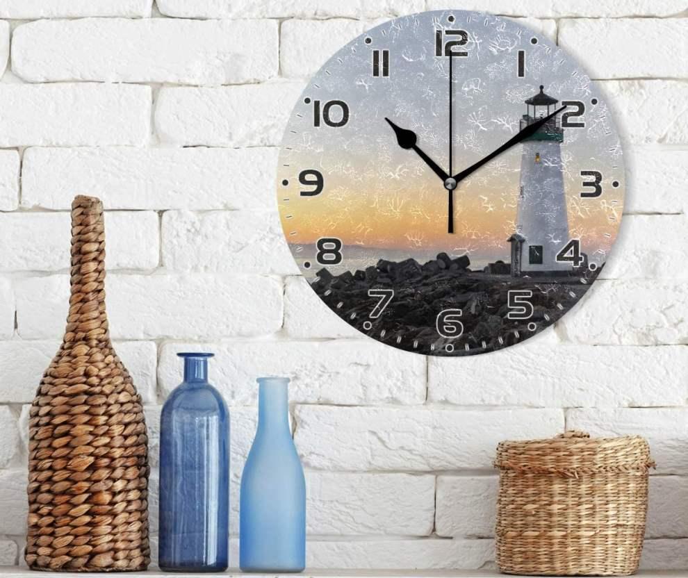 Skleněné nástěnné hodiny